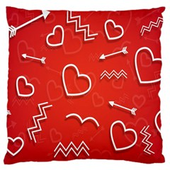Background Valentine S Day Love Large Cushion Case (two Sides) by Nexatart