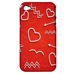 Background Valentine S Day Love Apple Iphone 4/4s Hardshell Case (pc+silicone)