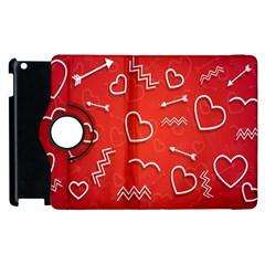 Background Valentine S Day Love Apple Ipad 2 Flip 360 Case