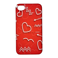 Background Valentine S Day Love Apple Iphone 4/4s Hardshell Case With Stand