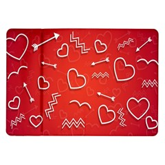 Background Valentine S Day Love Samsung Galaxy Tab 10 1  P7500 Flip Case