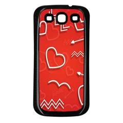 Background Valentine S Day Love Samsung Galaxy S3 Back Case (black) by Nexatart