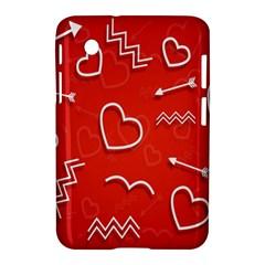 Background Valentine S Day Love Samsung Galaxy Tab 2 (7 ) P3100 Hardshell Case