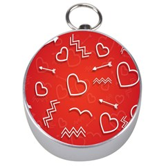 Background Valentine S Day Love Silver Compasses by Nexatart