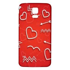 Background Valentine S Day Love Samsung Galaxy S5 Back Case (white) by Nexatart