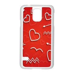 Background Valentine S Day Love Samsung Galaxy S5 Case (white)