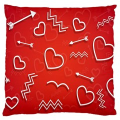 Background Valentine S Day Love Large Flano Cushion Case (one Side)