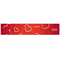 Background Valentine S Day Love Large Flano Scarf