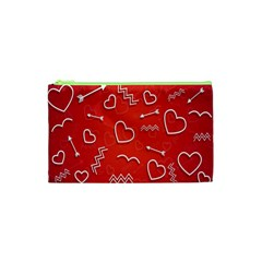 Background Valentine S Day Love Cosmetic Bag (xs)