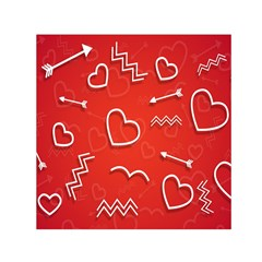 Background Valentine S Day Love Small Satin Scarf (square)
