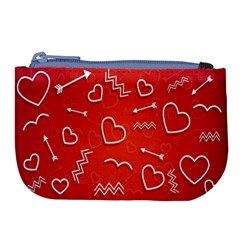 Background Valentine S Day Love Large Coin Purse