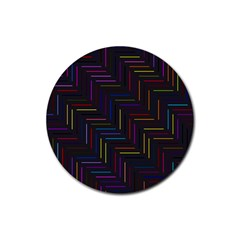 Lines Line Background Rubber Coaster (round)