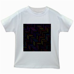 Lines Line Background Kids White T Shirts