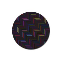 Lines Line Background Magnet 3  (round)