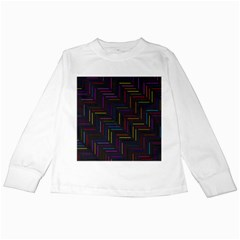 Lines Line Background Kids Long Sleeve T Shirts
