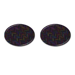 Lines Line Background Cufflinks (oval)