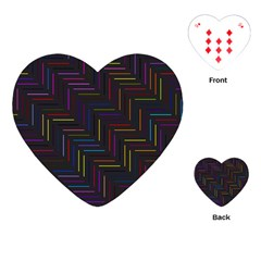 Lines Line Background Playing Cards (heart)