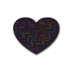 Lines Line Background Rubber Coaster (heart)