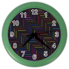 Lines Line Background Color Wall Clocks