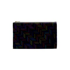 Lines Line Background Cosmetic Bag (small)
