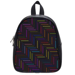 Lines Line Background School Bag (small)