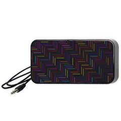 Lines Line Background Portable Speaker
