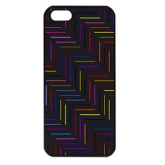 Lines Line Background Apple Iphone 5 Seamless Case (black)