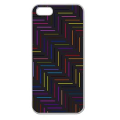 Lines Line Background Apple Seamless Iphone 5 Case (clear) by Nexatart