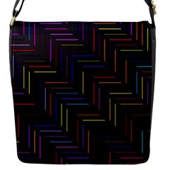 Lines Line Background Flap Messenger Bag (s)