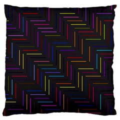 Lines Line Background Large Flano Cushion Case (one Side)