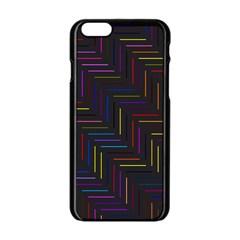 Lines Line Background Apple Iphone 6/6s Black Enamel Case