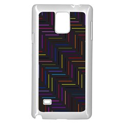 Lines Line Background Samsung Galaxy Note 4 Case (white)