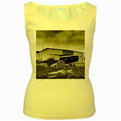 Omaha Airfield Airplain Hangar Women s Yellow Tank Top