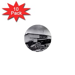 Omaha Airfield Airplain Hangar 1  Mini Magnet (10 Pack)