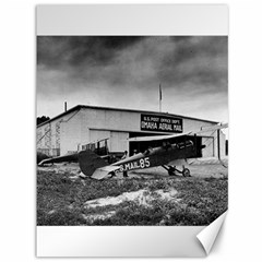 Omaha Airfield Airplain Hangar Canvas 36  X 48