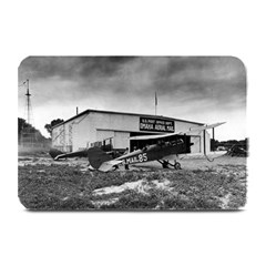 Omaha Airfield Airplain Hangar Plate Mats by Nexatart