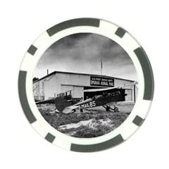 Omaha Airfield Airplain Hangar Poker Chip Card Guard