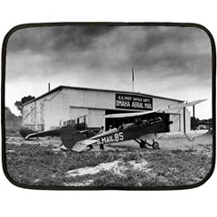 Omaha Airfield Airplain Hangar Double Sided Fleece Blanket (mini)  by Nexatart