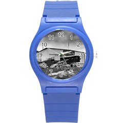 Omaha Airfield Airplain Hangar Round Plastic Sport Watch (s)