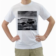 Omaha Airfield Airplain Hangar Men s T Shirt (white)