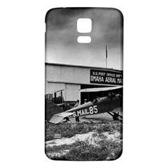 Omaha Airfield Airplain Hangar Samsung Galaxy S5 Back Case (white)