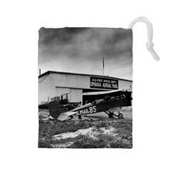 Omaha Airfield Airplain Hangar Drawstring Pouches (large)