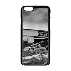 Omaha Airfield Airplain Hangar Apple Iphone 6/6s Black Enamel Case