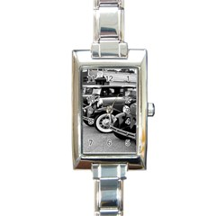 Vehicle Car Transportation Vintage Rectangle Italian Charm Watch