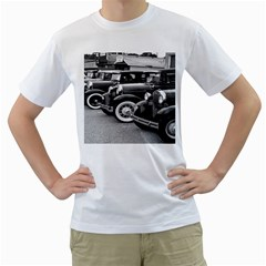 Vehicle Car Transportation Vintage Men s T Shirt (white) (two Sided)