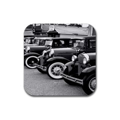 Vehicle Car Transportation Vintage Rubber Coaster (square)