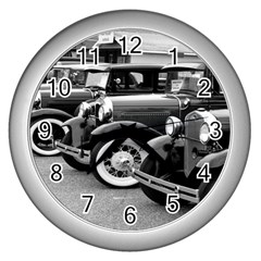 Vehicle Car Transportation Vintage Wall Clocks (silver)
