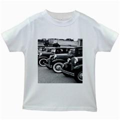 Vehicle Car Transportation Vintage Kids White T Shirts
