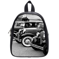 Vehicle Car Transportation Vintage School Bag (small)