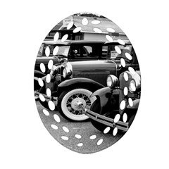 Vehicle Car Transportation Vintage Oval Filigree Ornament (two Sides)